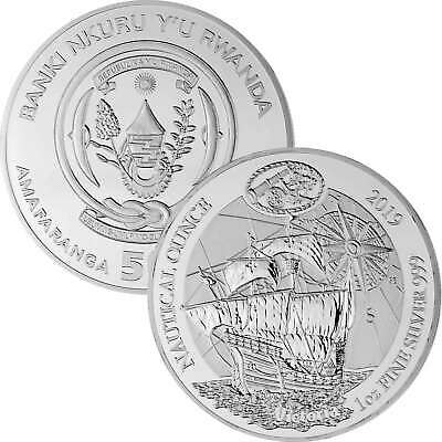 50 Francs Ruanda 2019 - 1 Unze Silber BU - Nautical Ounce: Victoria