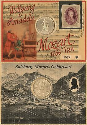 RARE CONSECUTIVE MOZART 25 SCHILLING COINS Commemorating 200 Years Death in 1991