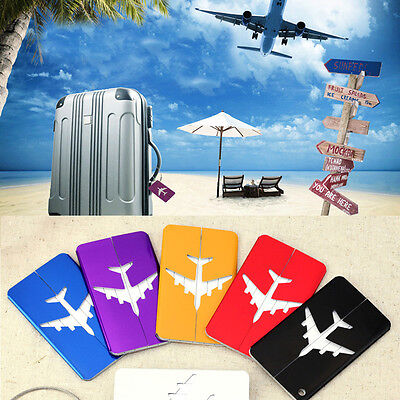 Aluminium Luggage Tags Suitcase Label Name Address ID Bag Baggage Tag Travel Lot