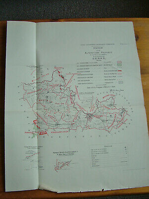 Rare - BERKSHIRE Antique Ordnance Survey Map 1888. Robert Owen Jones