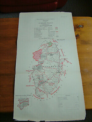 Rare - NOTTINGHAMSHIRE Antique Ordnance Survey Map 1888. Robert Owen Jones