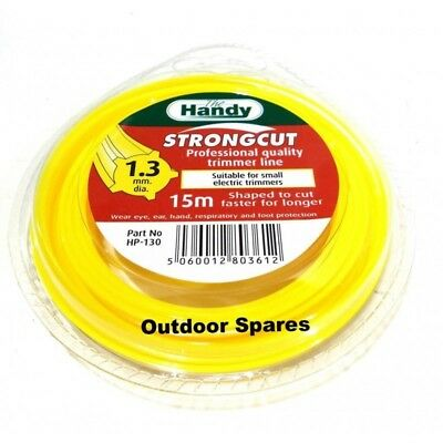 "Nylon Line 2mm x 15m Fits Strimmers /& Brushcutters /""Strongcut/"" Pro Quality"