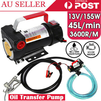 12V DC  45L/min Electric Auto Bowser Fuel Transfer Pump Station Diesel Oil Fuel