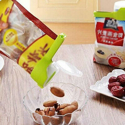 2 in 1 Seal Pour Bag Clip with Lid Food Snack Saver Sealer Kitchen Tool Sale