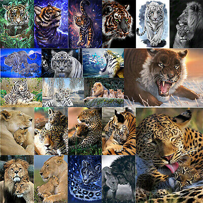 Tiger 5D Diamond Painting Embroidery DIY Full Drill Diamant Kreuzstich Stickerei