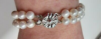 Ivory Pearl Double String Braclet beautiful decorative clasp