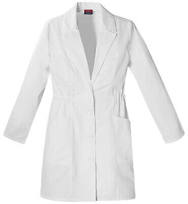 Dickies Women's Long Sleeve Modern Classic Fit Button Front Lab Coat. 84402
