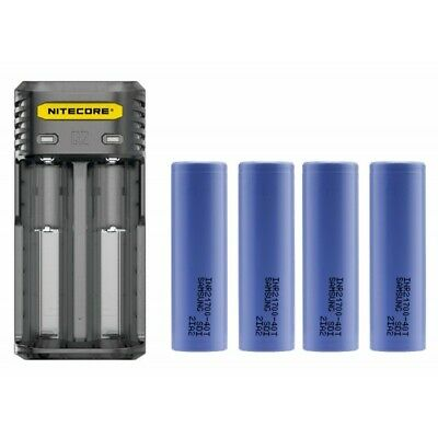 4x Samsung 40T 21700 + Nitecore Q2 Quick Battery Charger