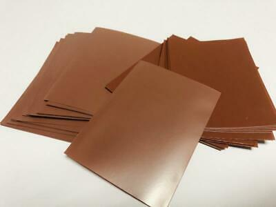 60pcs/Pack DECK PROTECTOR Card Sleeves 62mm*89mm Brown Color + Matte as picture