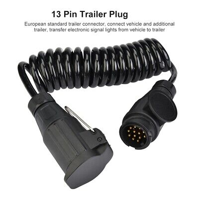 13Pin Trailer Plug Wiring Spring Cable Connector Adapter Fit For Trailer Caravan