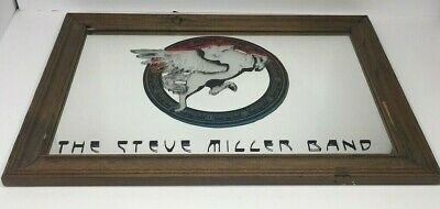 The Steve Miller Band Vintage 70s Classic Rock Winged Horse Mirror Bar Man Cave