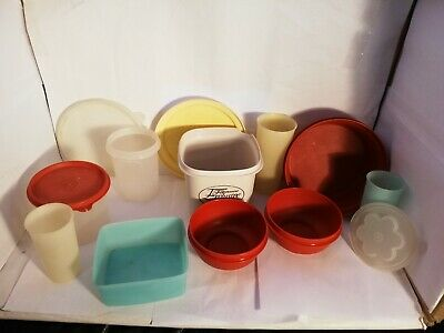 Vintage Retro Tupperware Spares Collection Bundle Joblot x 17 Items