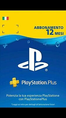 Abbonamento PlayStation Plus 12 Mesi