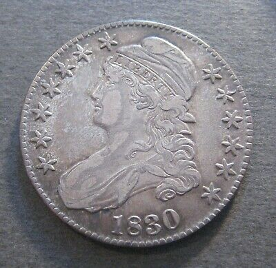 1830  Capped Bust Silver Half Dollar - * 90% Silver * - (P1150)