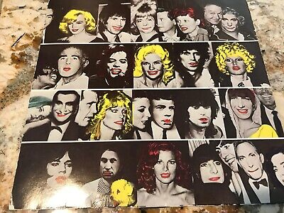 """ROLLING STONES """"Some Girls"""" ORIGINAL withdrawn die-cut cover w/Celebrity Faces"""