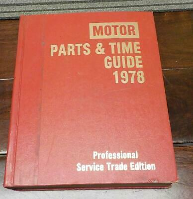 Auto Motor Parts & Time Guide  Professional Service Trade Edition 1978