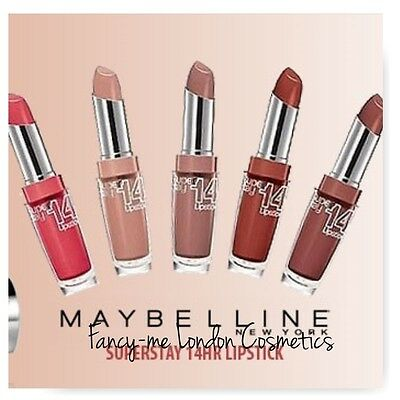 Maybelline Super Stay 14 Hour Lipstick NEW & SEALED  free UK P&P