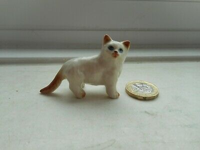 Cat - Beautiful Miniature Pottery Cream And Ginger Persian Type Cat - Standing