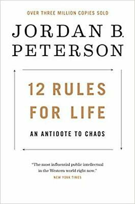 12 Rules for Life: An...by Jordan B. Peterson HARDCOVER 2018