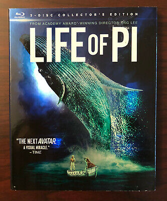Life of Pi 3D (3-disc Blu-ray 3D/Blu-ray/DVD Collector's Edition) with slipcover