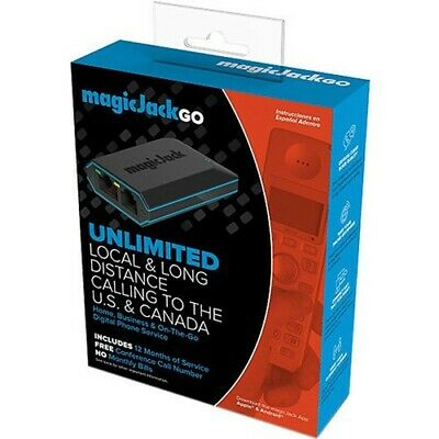 Brand New Magic Jack Go Plus 12 Months Free Service Included No Monthly Bills