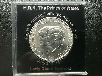 1981 Charles and Diana Royal Wedding Commerative Crown. Collectors Item