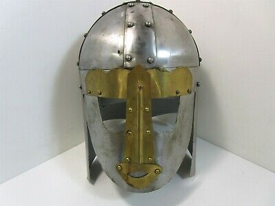 "Cosplay Steel Decorative Helmet Armor With Face/Neck Covers 12"" x 9"" x 13"""