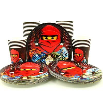 Ninjago Children Birthday Party Paper 12 Plate 12 Cup Tableware Decorations