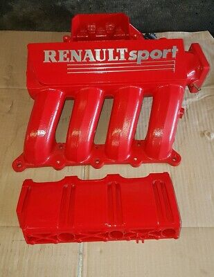 Renault Clio sport 172 Inlet Manifold & fuel rail guard finished in red
