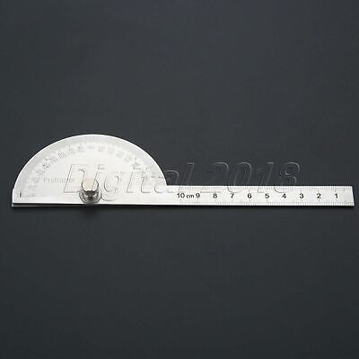 Stainless Steel Protractor 180 degree Angle Finder Arm Measuring Ruler Tool New