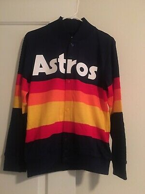 fb86bdb0 Houston Astros 1986 Mitchell & Ness Rainbow Throwback Sweater: Small Kate  Upton