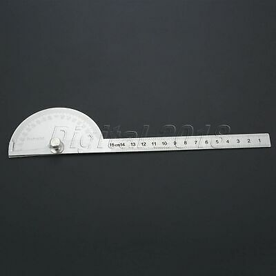 0-180 Degree Protractor Arm Stainless Steel 150mm Ruler Angle Finder Gauge New