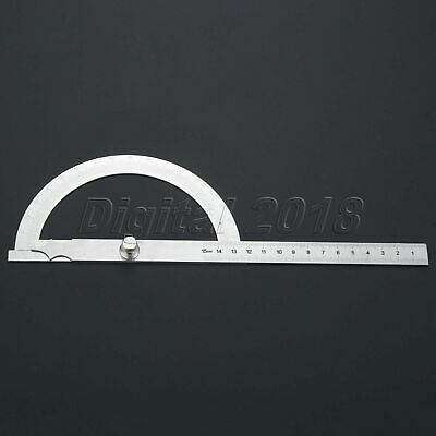 Stainless Steel Protractor 0-180 degree Angle Finder Arm Measuring Ruler Tools