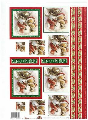CLEARANCE* 4 x A4 Sheets Of Christmas die cut decoupage SHEETS By Buzzcraft