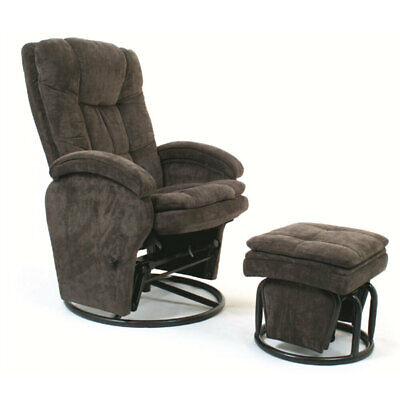Valco Baby Brown Tranquillity Glider Nursing Chair w/Ottoman Rocking/Recliner