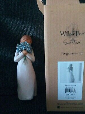 Willow Tree hand painted sculpted figure NEW Forget - me - not Susan Lordi Boxed