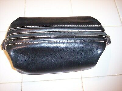 10X6 Hickok Black Top Grain Cowhide Man's Toiletry Shaving Leather Travel Bag