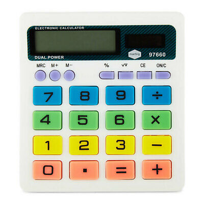 Marbig Solar/Battery Powered 8 Digit Desk/Office/Home Calculator w/Large Display
