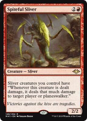 1x Spiteful Sliver MTG Modern Horizons NM Magic Regular
