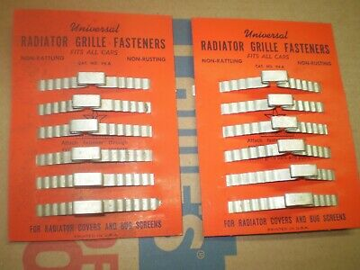 1930-40-50's CHEVY FORD MOPAR RADIATOR GRILL FASTENER'S ON DISPLAY CARDS Pair