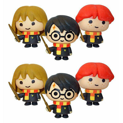 6PK Harry Potter Collectible Charms Kids/Children Office/School Figures Erasers