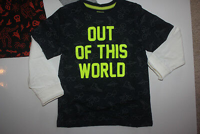 NEW Boys Size 4T Gymboree Shirt Space OUT OF THIS WORLD Long Sleeve NWT