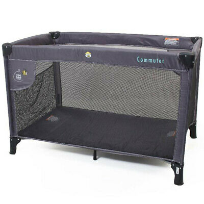 Vee Bee Commuter Toddler/Baby Portable Cot/Portacot Foldable Travel Charcoal