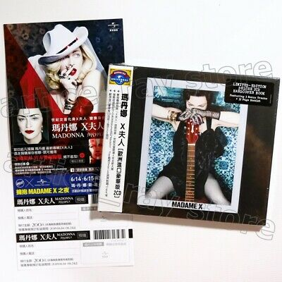 Madonna Madame X International Deluxe Taiwan 2 CD OBI 2 Sticker 2019 NEW
