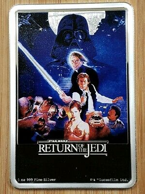 2017 Niue $2 Star Wars Return of the Jedi Poster 1 oz Silver bar