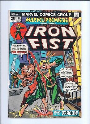 Marvel Premiere 16 Good 2.0 Bronze Age 2nd Appearance of Iron Fist