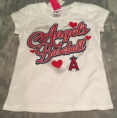 Los Angeles Angels of Anaheim Girls Shirt Medium 7/8 MLB NEW NWT