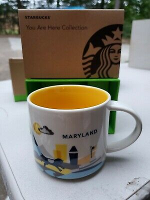 Starbucks Maryland YAH You Are Here 14oz Mug DISCONTINUED - NEW IN BOX