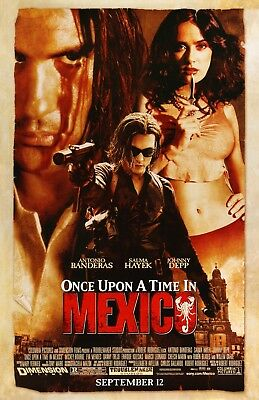 Once Upon A Time In Mexico movie poster  - 11 x 17 inches - Johnny Depp