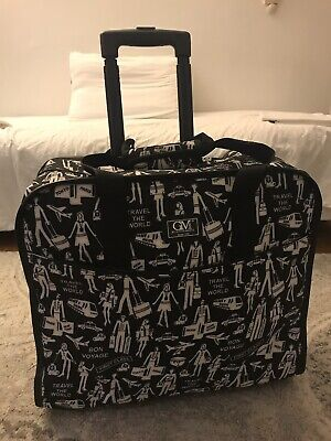 Rolling Tote Bag Duffle Wheeled Carry On Luggage Travel Suitcase w/ Wheels